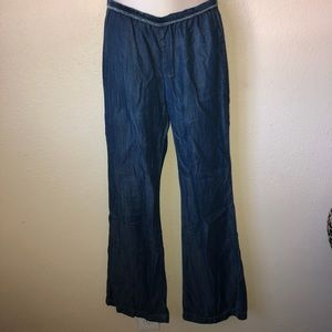BELLA DAHL || low waist chambray denim pants XS